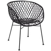Product photograph showing Bloomingville Pair Of Rattan Kama Lounge Chairs