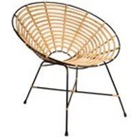 DUTCHBONE KUBU RATTAN ROUND LOUNGE CHAIR