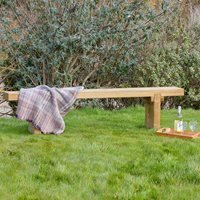 ZEST 4 LEISURE REBECCA WOODEN GARDEN BENCH