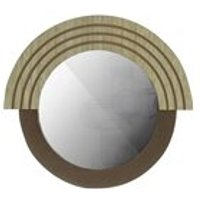 Product photograph showing Woood Hailey Round Mirror - 29cm