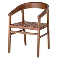 Product photograph showing Bloomingville Leather Wood Vitus Chair