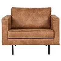 Product photograph showing Rodeo Leather Armchair In Tan By Bepurehome