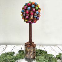 PERSONALISED CHOCOLATE ROLO & SMARTIE SWEET TREE - 35cm