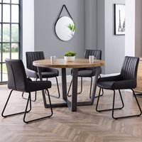 Julian Bowen Brooklyn Round Dining Set with Soho Chairs