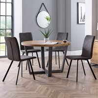 Julian Bowen Brooklyn Round Dining Set with Monroe Chairs