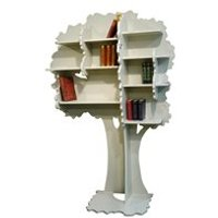 Product photograph showing Mathy By Bols Childrens Tree Bookcase In Sam Design - Mathy Raw