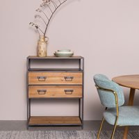 Product photograph showing Samuel Industrial Console Table