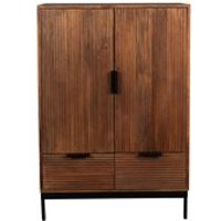 Product photograph showing Dutchbone Saroo 2 Door Cabinet With 2 Drawers