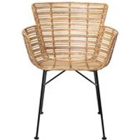 Product photograph showing Bloomingville Pair Of Rattan Coast Lounge Chairs