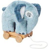 Sebra Pull Along Elephant Soft Toy in Cloud Blue