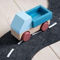 Sebra Kids Wooden Toy Truck in Stone Blue