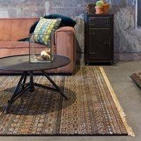 Product photograph showing Dutchbone Shisha Persian Style Carpet In Cave Design