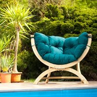 Product photograph showing Siena Uno Garden Chair In Green