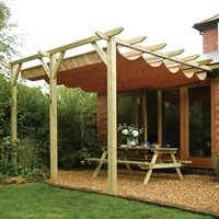 Product photograph showing Rowlinson Sienna Garden Canopy In Natural Timber