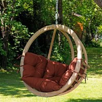 Product photograph showing Globo Garden Hanging Chair In Terracotta
