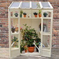 Product photograph showing Forest Garden Victorian Tall Wall Greenhouse