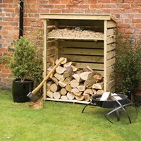 Product photograph showing Rowlinson Small Garden Log Store In Natural Timber