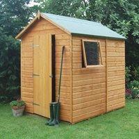 Rowlinson Premier Garden Shed in Honey Brown - 10x8