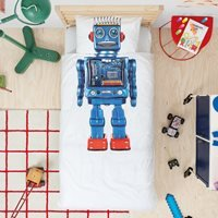 Snurk Single Robot Duvet Bedding Set