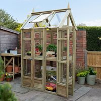 Product photograph showing Forest Garden Victorian Walkaround Greenhouse
