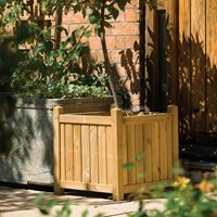 Rowlinson Wooden Planter in Natural Timber - Square