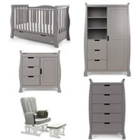 Obaby Stamford Luxe Cot Bed 5 Piece Nursery Furniture Set
