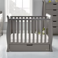 Obaby Stamford Space Saver Cot in Taupe Grey with Optional Free Mattress
