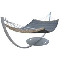 Product photograph showing Trimm Copenhagen Double Hammock Frame - Aluminium Grey