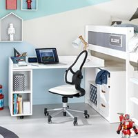 Product photograph showing Lifetime Storage Cabinet With Turning Desk - Lifetime Greywash