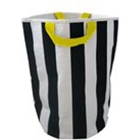 Wildfire Kids Toy Storage Bag in Stripes with Yellow Handles