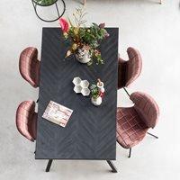 Zuiver Seth Herringbone Dining Table in Black - 220cm x 90cm