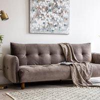 Product photograph showing Hallen Velvet Sofa Bed