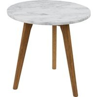 Product photograph showing Zuiver White Stone Side Table - Small
