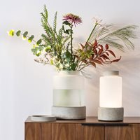 Zuiver Reina Concrete Vase Including Rechargeable Lamp - Large