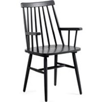 Product photograph showing Pair Of Kristie Wooden Spindle Back Armchairs In Black