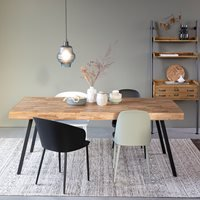 Product photograph showing Suri Recycled Teak Dining Table - 220cm X 100cm