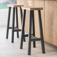 Product photograph showing Garden Trading Tall Clockhouse Stool In Carbon Oak