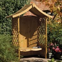 Rowlinson Tenbury Arbour Seat in Natural Timber