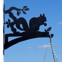 Hanging Basket Bracket in Squirrel Design - Large