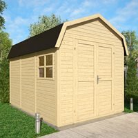 Product photograph showing Rowlinson Paramount 11x8 Dutch Barn Shed