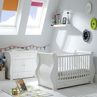 Tutti Bambini Marie Cot Bed 2 Piece Nursery Set in White