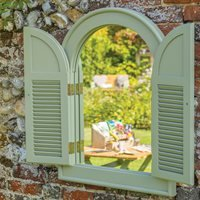 Product photograph showing Verdi Outdoor Arch Mirror