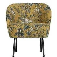 Product photograph showing Vogue Velvet Armchair In Poppy Mustard By Bepurehome