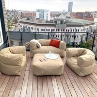 Product photograph showing Trimm Copenhagen Outdoor Arm-strong Sofa - Taupe