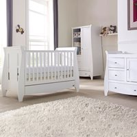 Tutti Bambini Lucas Cot Bed 3 Piece Nursery Set in White