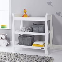Product photograph showing Obaby Stamford Open Changing Unit - White