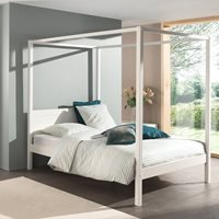 Pino Four Poster Double Bed  - White