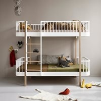 Oliver Furniture Wood Childrens Luxury Bunk Bed in White and Oak