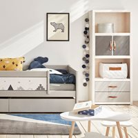 Lifetime Customisable Bookcase in Whitewash - 3 Compartments