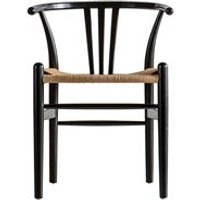 Product photograph showing Pair Of Saltburn Dining Chairs - Black